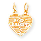 2 Piece Break-Apart Best Friend Heart Charm 10k Gold 10C212