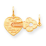 HEART AND KEY CHARM 10k Gold 10C214