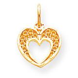 Heart Charm 10k Gold 10C220