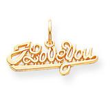 I Love You Charm 10k Gold 10C226