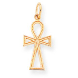 Cross Charm 10k Gold 10C289