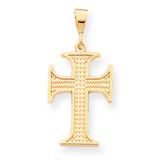 Cross Charm 10k Gold 10C312