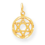 STAR OF DAVID CHARM 10k Gold 10C332