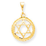 STAR OF DAVID CHARM 10k Gold 10C333