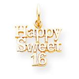 HAPPY SWEET 16 CHARM 10k Gold 10C336
