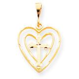 CROSS IN HEART CHARM 10k Gold 10C410
