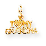 I Love My Grandma Charm 10k Gold 10C428