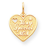 VERY SPECIAL MOM HEART CHARM 10k Gold 10C433