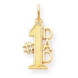 #1 DAD CHARM 10k Gold 10C450