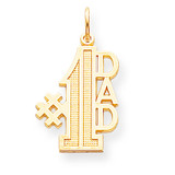 #1 DAD CHARM 10k Gold 10C451