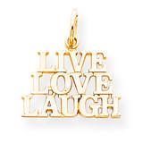 Live Love Laugh Charm 10k Gold 10C478