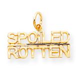 Talking - Spoiled Rotten Charm 10k Gold 10C485
