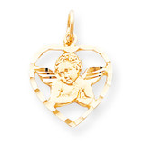 ANGEL HEART CHARM 10k Gold 10C511