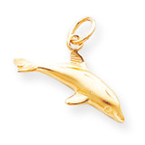 Dolphin Charm 10k Gold 10C520