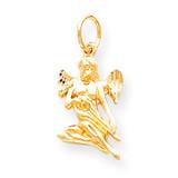 Angel Charm 10k Gold 10C55