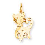 CAT CHARM 10k Gold 10C599