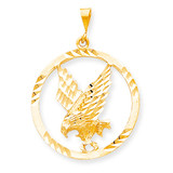 EAGLE IN A FRAME CHARM 10k Gold 10C620