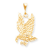 Solid Diamond-cut Eagle Charm 10k Gold 10C624