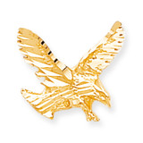 Solid Diamond-cut Eagle Charm 10k Gold 10C627