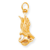 Solid Polished Eagle with Serpent Charm 10k Gold 10C632