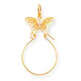 Filigree Butterfly Charm Holder 10k Gold 10C691