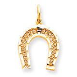 HORSESHOE CHARM 10k Gold 10C714