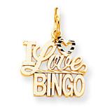 Talking - I Love Bingo Charm 10k Gold 10C727