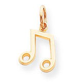 Musical Note Charm 10k Gold 10C737