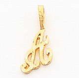 Initial S Charm 10k Gold 10C763S
