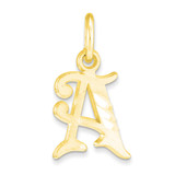 Initial A CHARM 10k Gold 10C764A