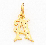 Initial S Charm 10k Gold 10C764S