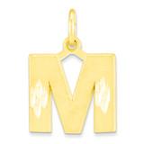 Initial M Charm 10k Gold 10C768M