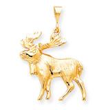 Moose Charm 10k Gold 10C801
