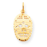 Hockey Mask Charm 10k Gold 10C843