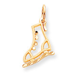 Diamond-cut Ice Skate Charm 10k Gold 10C870