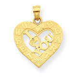 I Love You Heart Charm 10k Gold 10C957