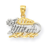 #1 Mom Charm 10K Gold & Rhodium 10C962