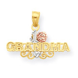 #1 Grandma Charm 10k Two-Tone Gold 10C965