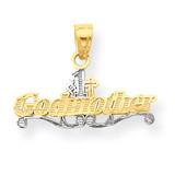 #1 Godmother Charm 10K Gold & Rhodium 10C966