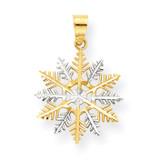 Snowflake Charm 10K Gold & Rhodium 10C986