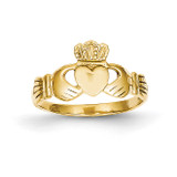 Polished Ladie's Claddagh Ring 10k Gold 10D1863