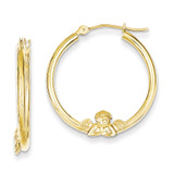 ANGEL HOOP EARRINGS 10k Gold 10ER151
