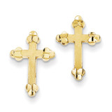 Budded Cross Earring 10k Gold 10ER19