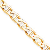 9mm Hand-Polished Anchor Link Chain 8 Inch 10k Gold 10LK101-8