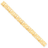 10.0mm NUGGET Bracelet 7 Inch 10k Gold 10N10-7