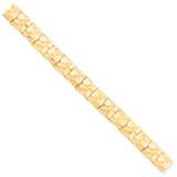 10.0mm NUGGET Bracelet 8 Inch 10k Gold 10N10-8