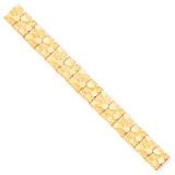 12.0mm NUGGET Bracelet 8 Inch 10k Gold 10N12-8