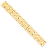 15.0mm NUGGET Bracelet 8 Inch 10k Gold 10N15-8