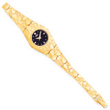 Black 22mm Dial Nugget Watch 10k Gold 10N260B-7