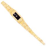 Black 15x31mm Dial Rectangular Face Nugget Watch 10k Gold 10N261B-7